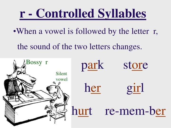 r - Controlled Syllables