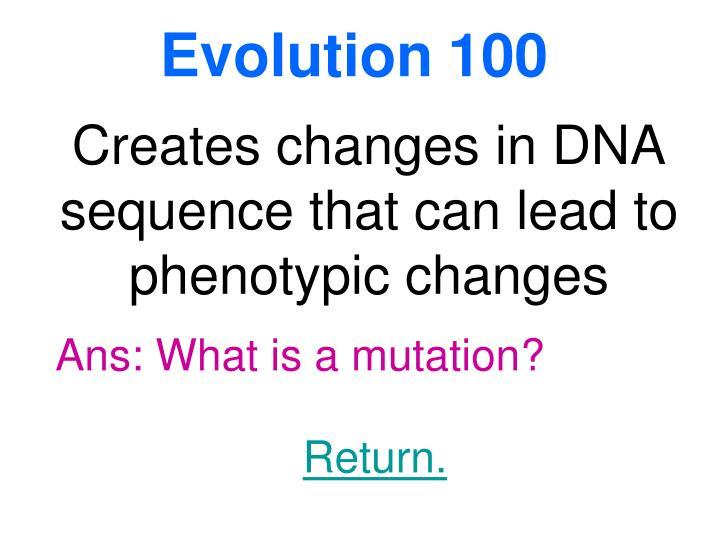 Evolution100