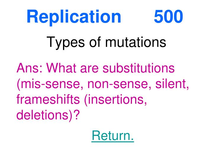 Replication 500