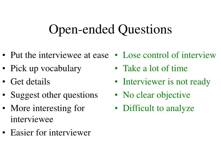 open and closed questions pdf