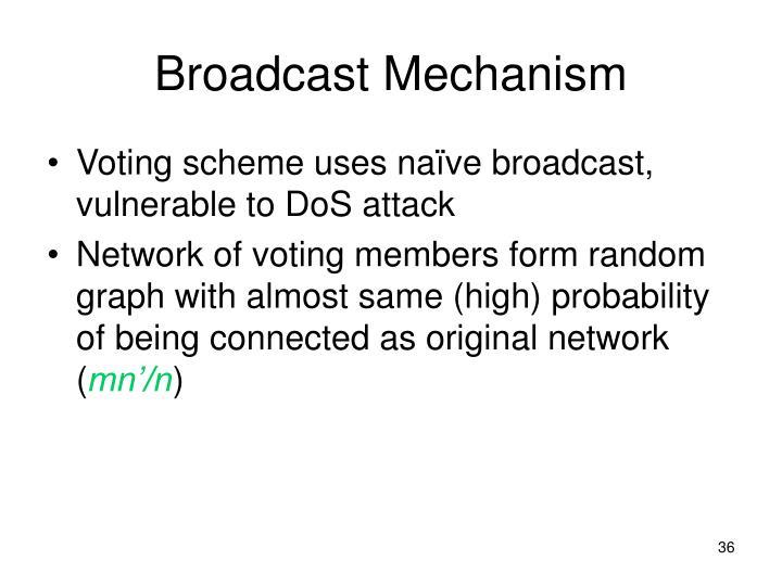 Broadcast Mechanism