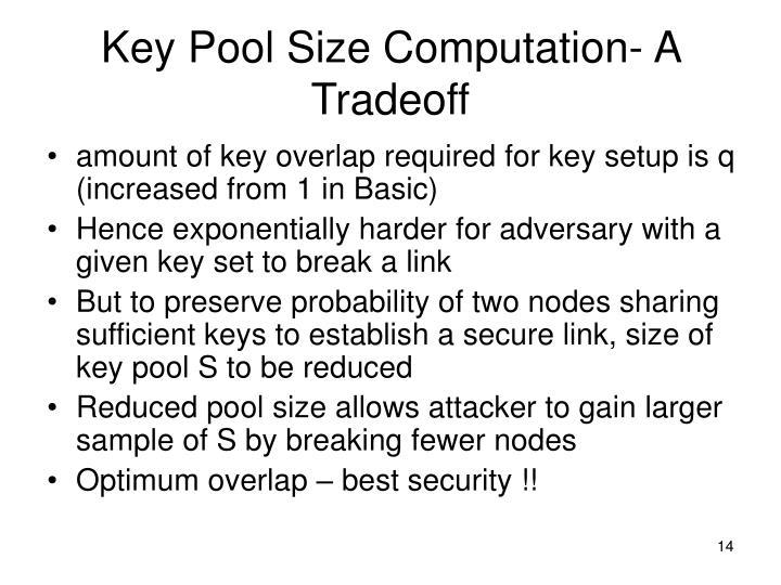 Key Pool Size Computation- A Tradeoff