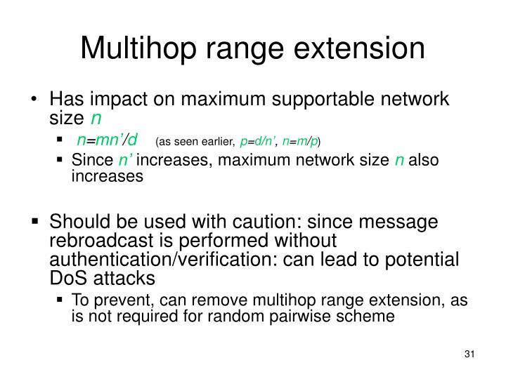 Multihop range extension