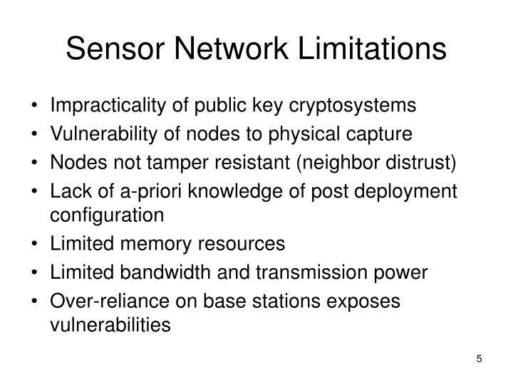 Sensor Network Limitations