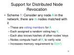 support for distributed node revocation1