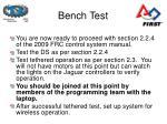 bench test