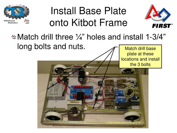 Install Base Plate onto Kitbot Frame