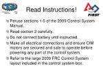 read instructions