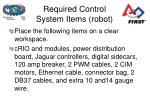required control system items robot