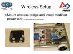 wireless setup