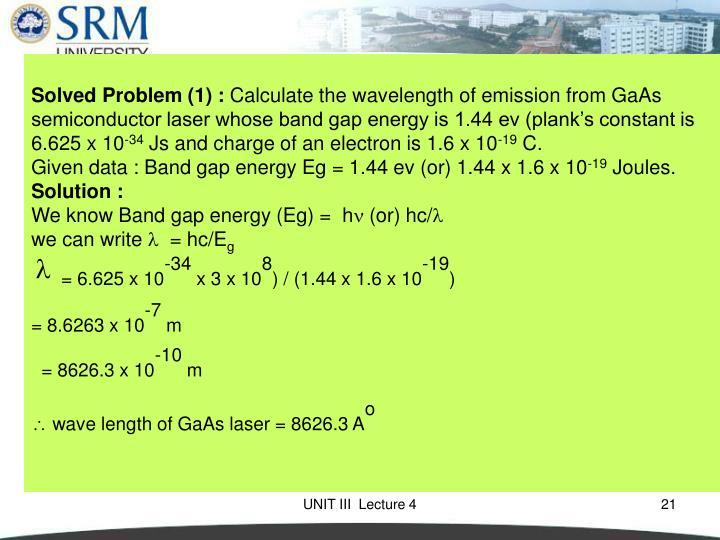Solved Problem (1) :