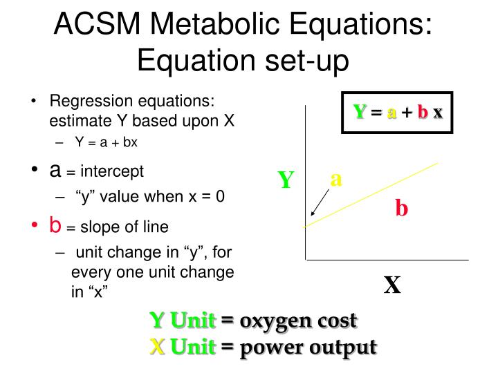 ACSM Metabolic Equations: Equation set-up
