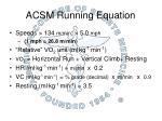 acsm running equation
