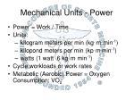 mechanical units power