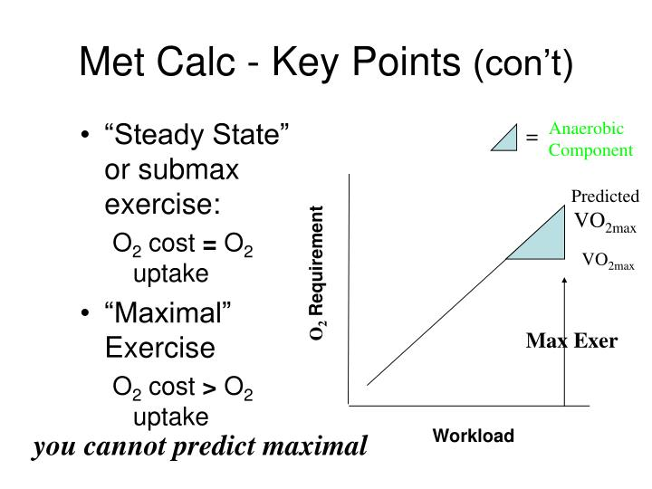 Met Calc - Key Points