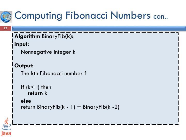 Computing Fibonacci