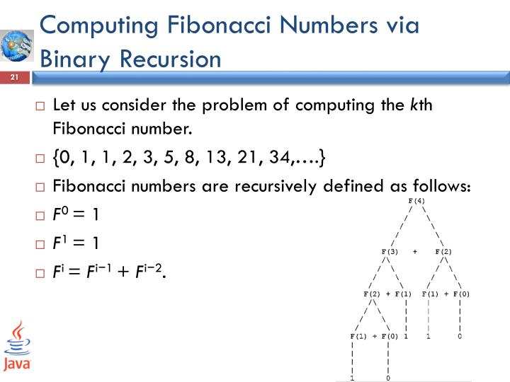 Computing Fibonacci Numbers via Binary Recursion