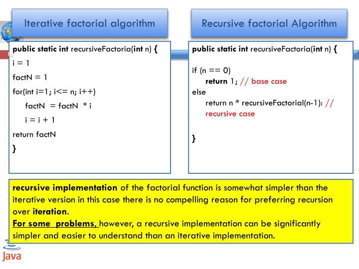 Iterative factorial