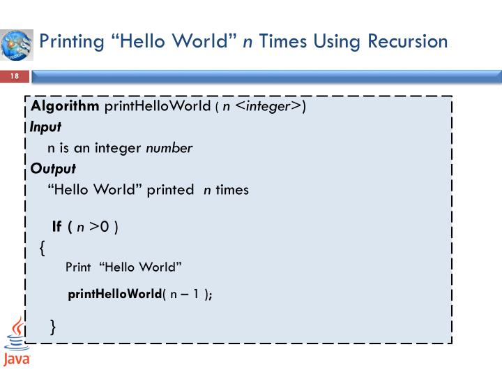 "Printing ""Hello World"""