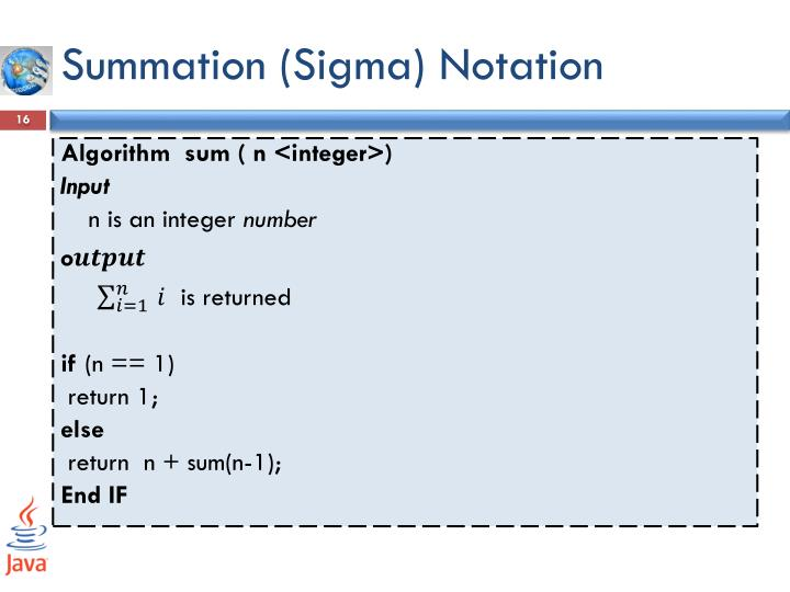 Summation (Sigma) Notation