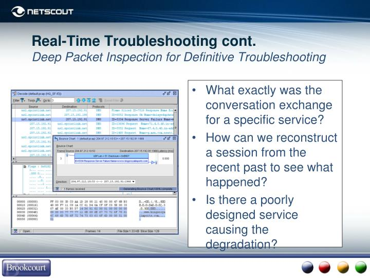 Real-Time Troubleshooting cont.