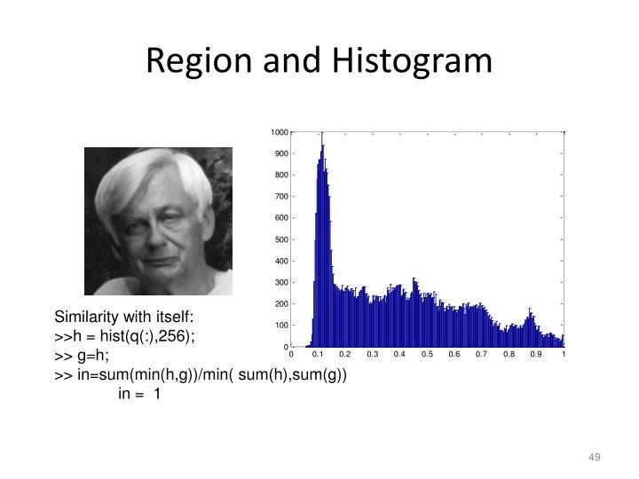 Region and Histogram
