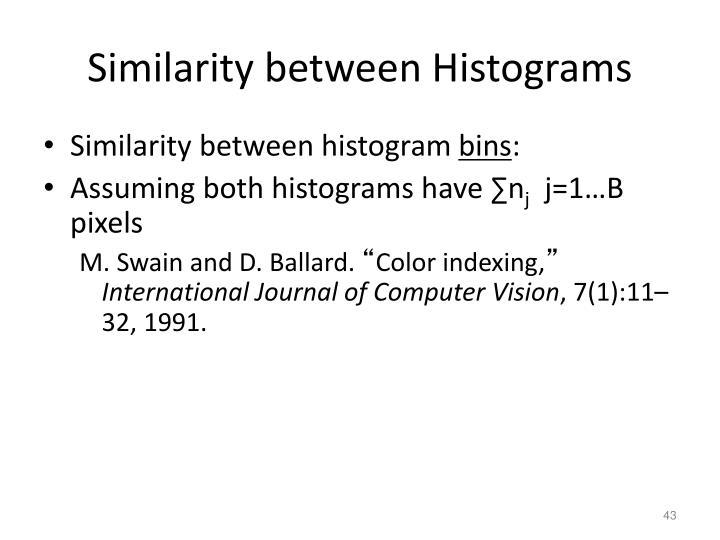 Similarity between Histograms