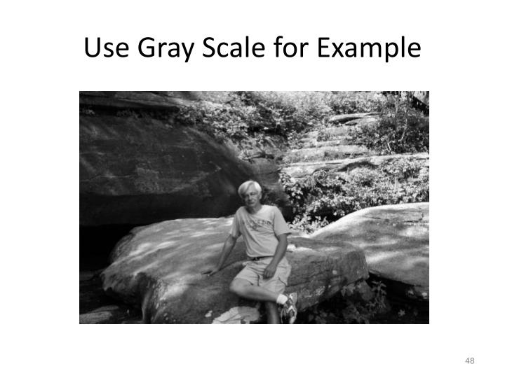 Use Gray Scale for Example