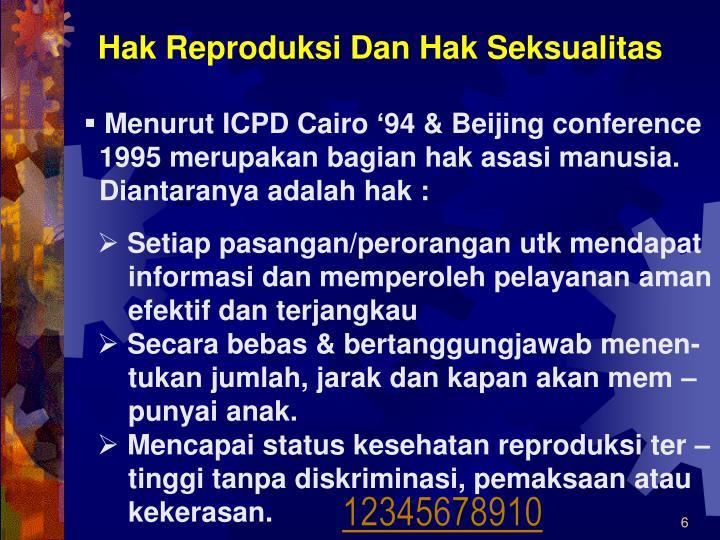 Hak Reproduksi Dan Hak Seksualitas