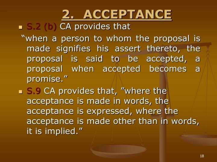 2.ACCEPTANCE