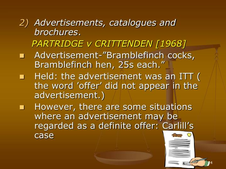 Advertisements, catalogues and brochures