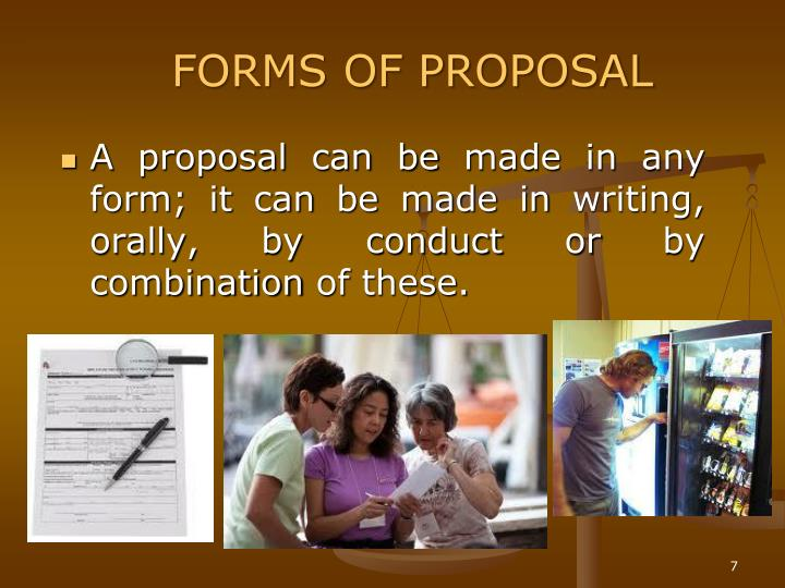 FORMS OF PROPOSAL