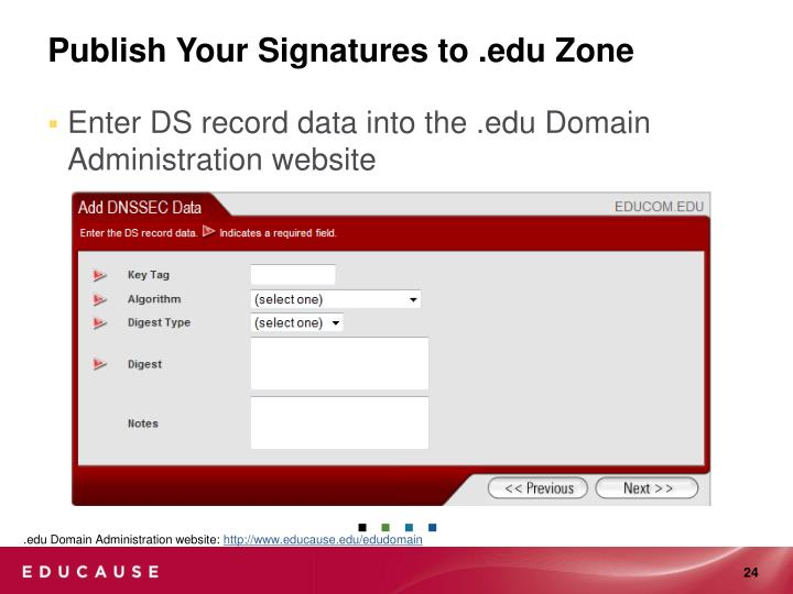 Publish Your Signatures to .edu Zone