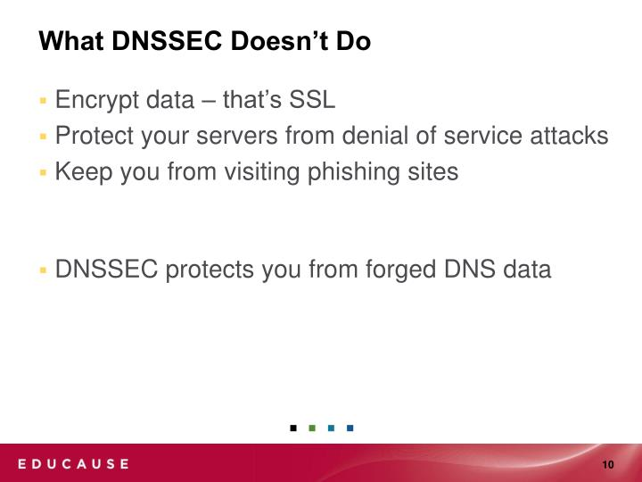 What DNSSEC Doesn't Do