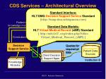 cds services architectural overview
