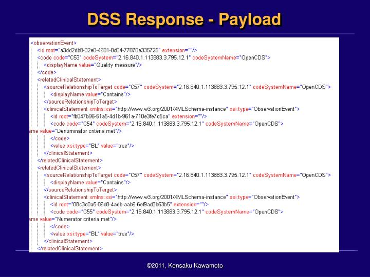 DSS Response - Payload