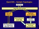 opencds sample topologies