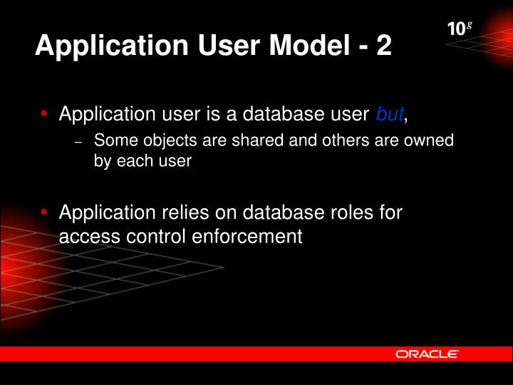Application User Model - 2
