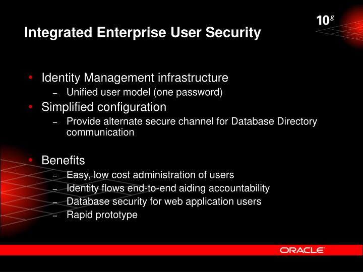 Integrated Enterprise User Security
