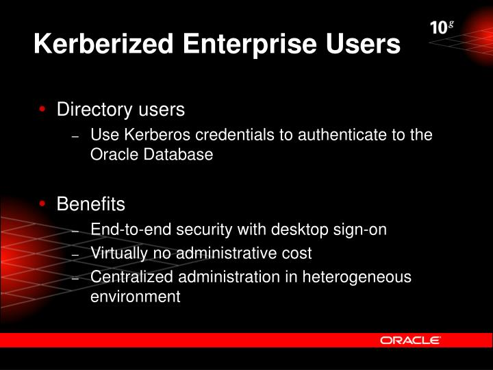Kerberized Enterprise Users