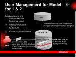 user management for model for 1 2