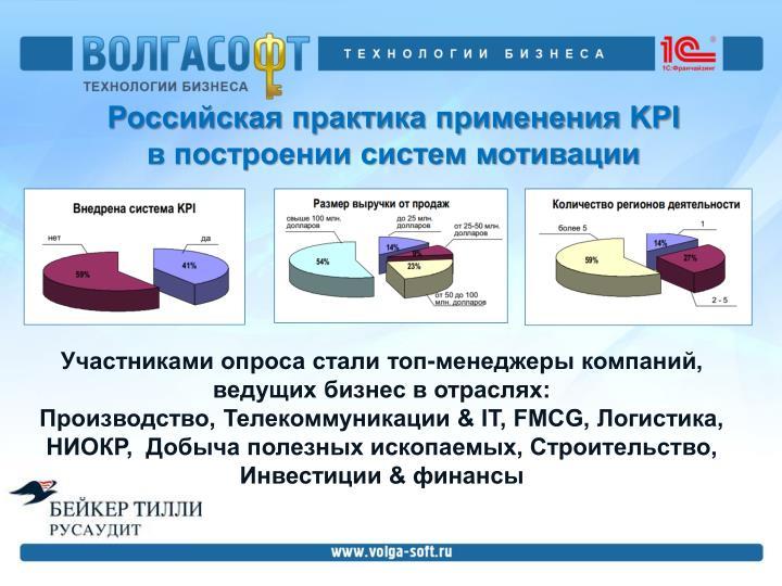 Российская практика применения KPI