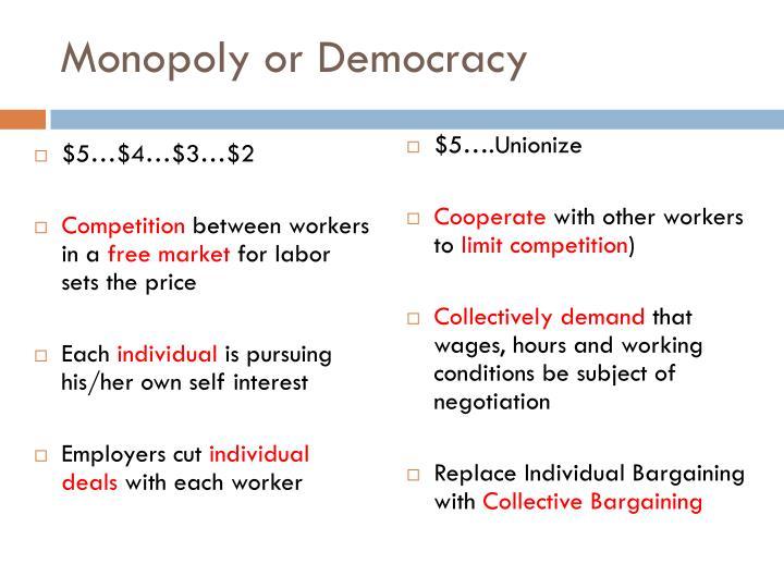 Monopoly or Democracy