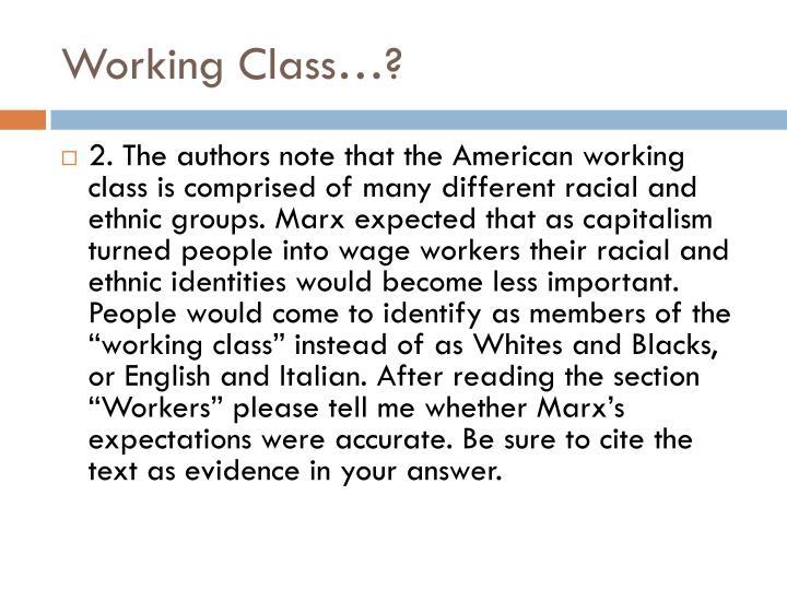 Working Class…?