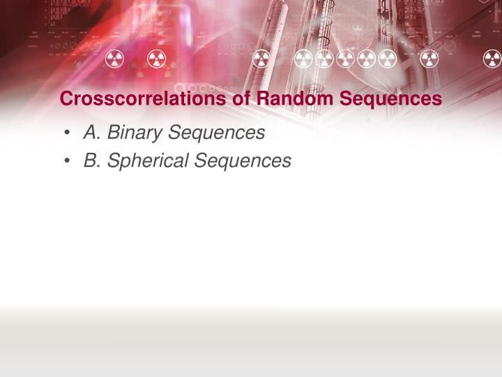 Crosscorrelations of Random Sequences