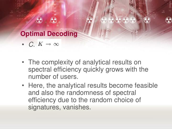 Optimal Decoding