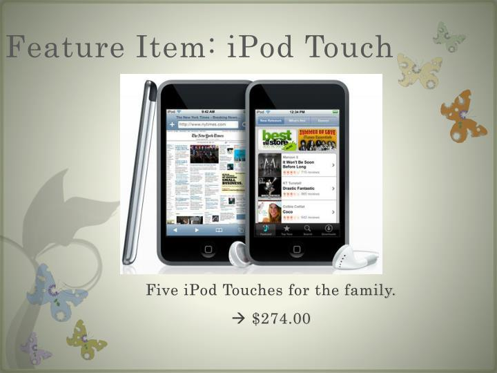 Feature Item: iPod Touch