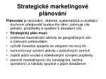 strategick marketingov pl nov n