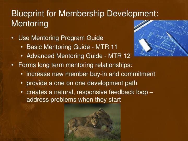 Blueprint for Membership Development: