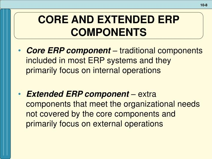 CORE AND EXTENDED ERP COMPONENTS